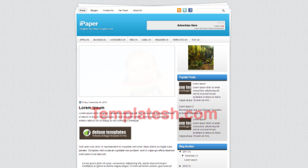 i paper blogger template