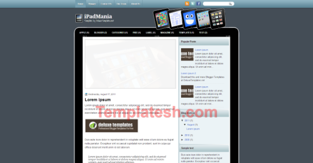 ipad mania blogger template