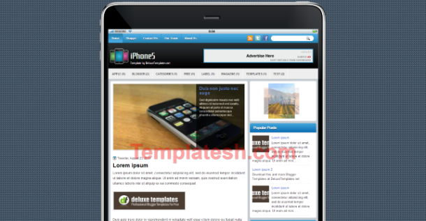 iphone 5 blogger template