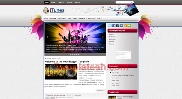 itunes blogger template