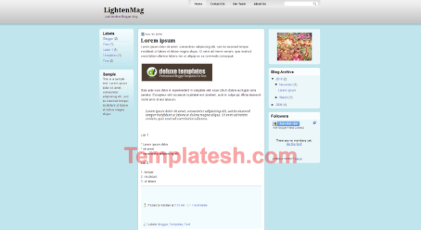 lighten mag blogger template