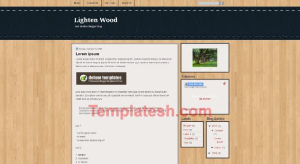 lighten wood blogger template