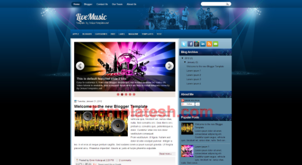 live music blogger template
