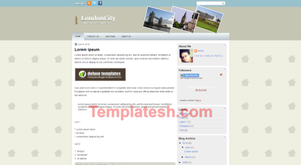 london city blogger template