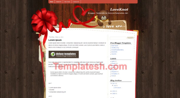 love knot blogger template