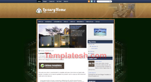 luxury home blogger template