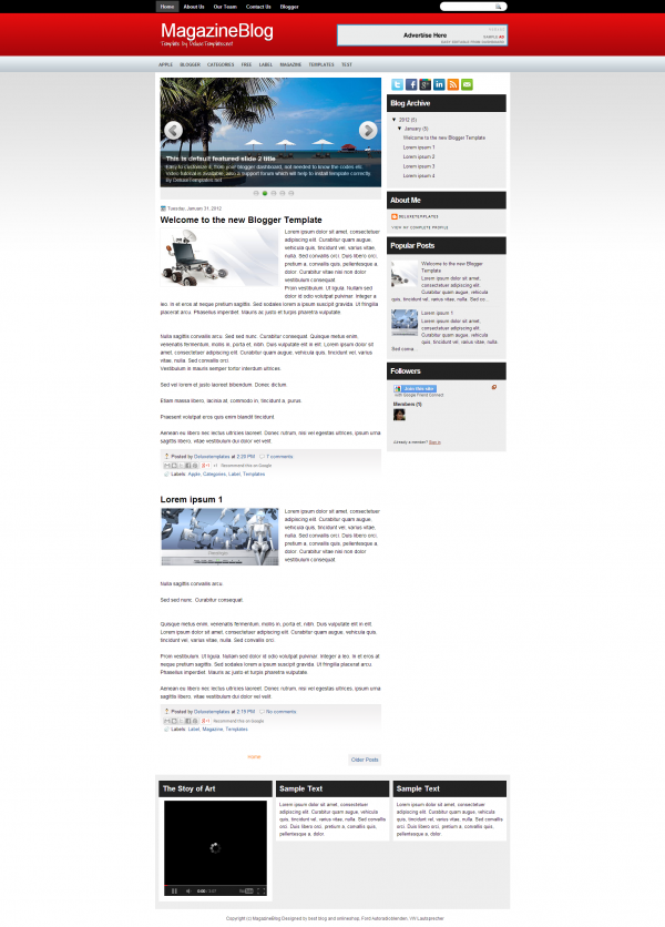 magazine blog blogger template