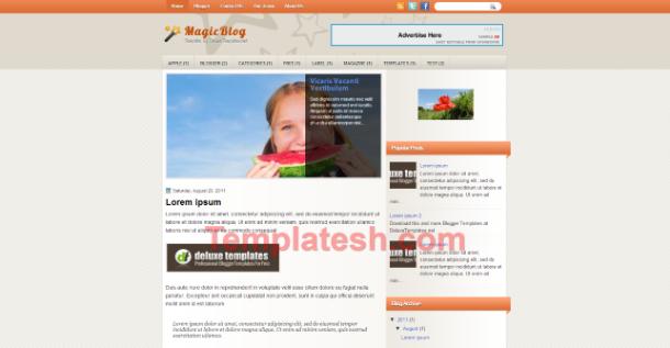 magic blog blogger template