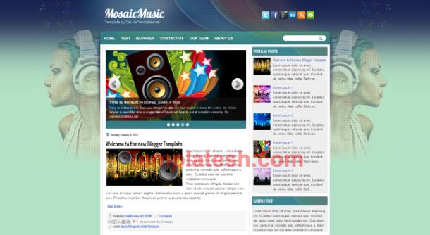 mosaic music blogger template