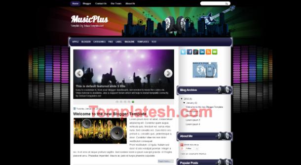 music plus blogger template