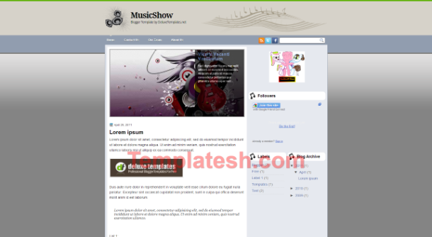 music show blogger template