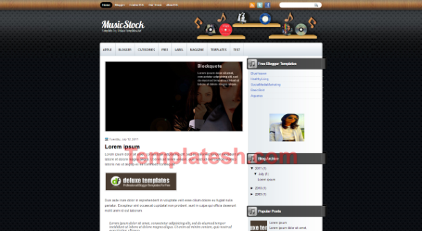 music stock blogger template