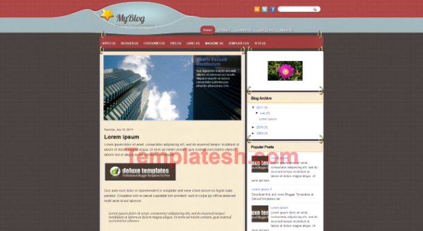 my blog blogger template