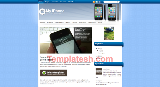 my iphone blogger template