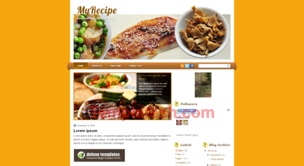 my recipe blogger template
