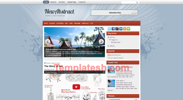 new abstract blogger template