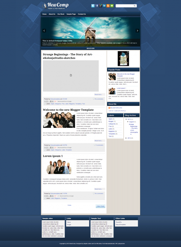 new comp blogger template