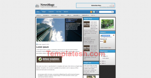 new magz blogger template