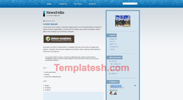 news folio blogger template