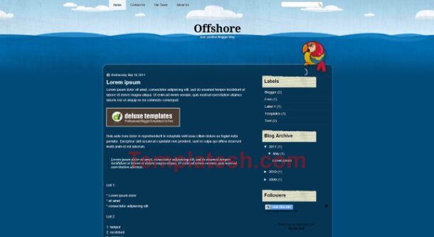 offshore blogger template
