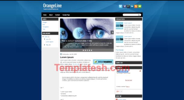 orange line blogger template