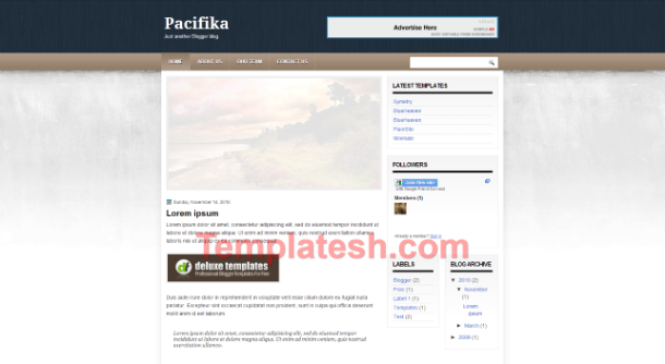 pacifika blogger template
