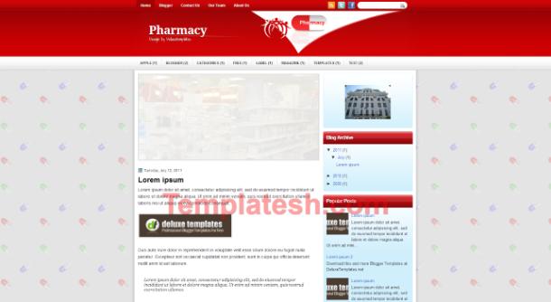 pharmacy blogger template
