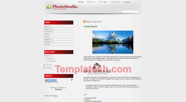 photo studio blogger template