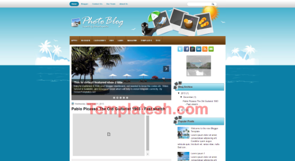 photoblog blogger template