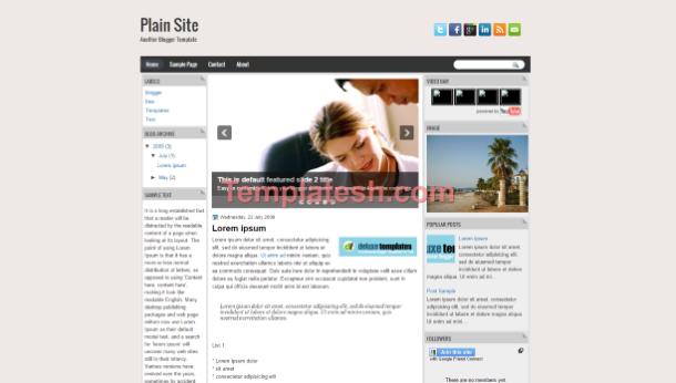 plain site blogger template