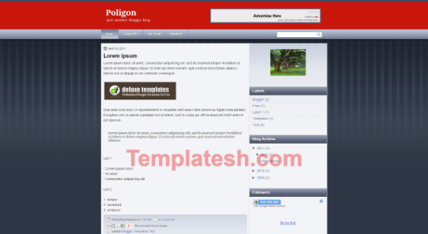 poligon blogger template