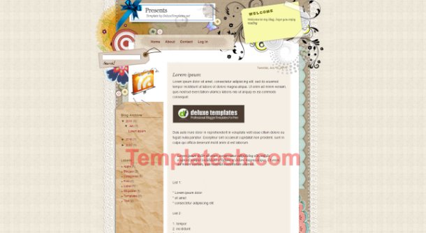 presents blogger template