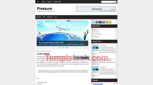 pressure blogger template