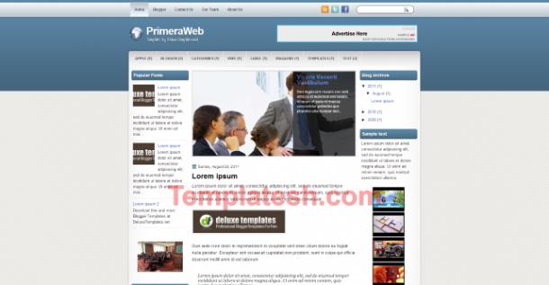 primera web blogger template