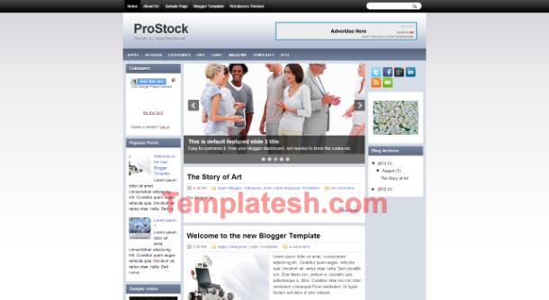 pro stock blogger template
