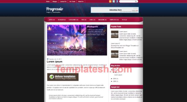 progressio blogger template