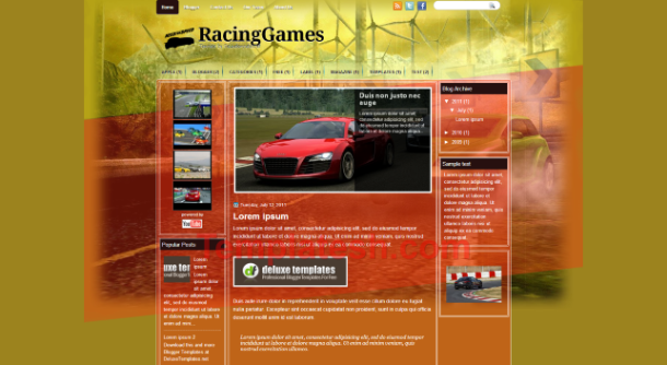 racing games blogger template