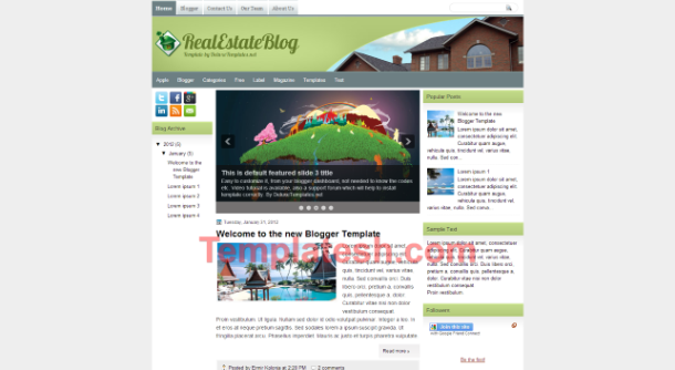 real estate blog blogger template