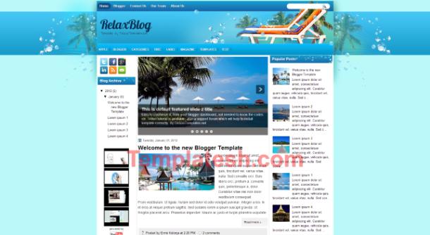 relaxblog blogger template