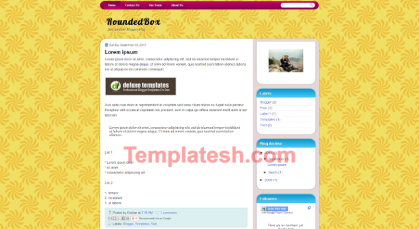 rounded box blogger template