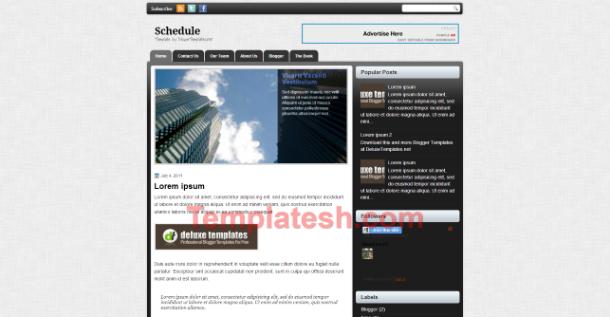schedule blogger template