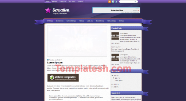 sensation blogger template