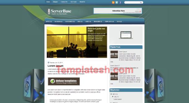 serve base blogger template