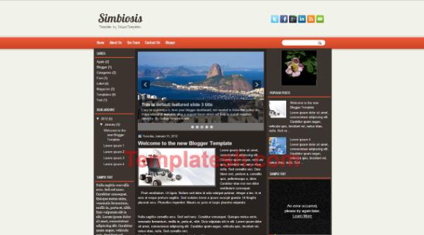 sim biosis blogger template