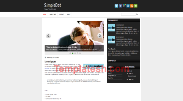 simple dot blogger template