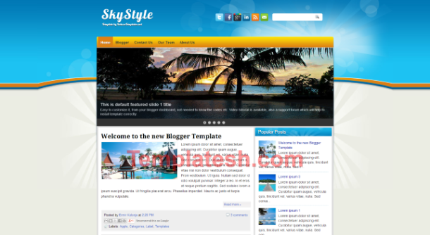 sky style blogger template