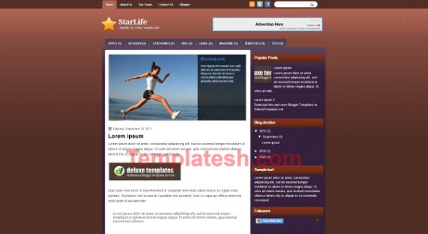 star life blogger template