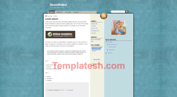 stone walled blogger template