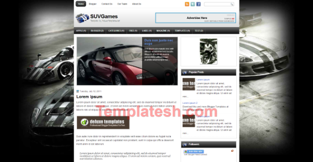 suv games blogger template