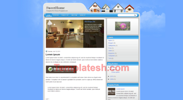 sweet home blogger template
